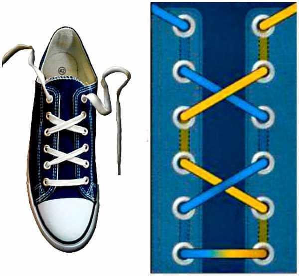 Красиво завязать шнурки в картинках идеальный